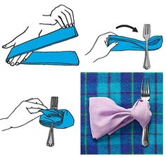 Napkin Folding Techniques | The Scarf Fold | 28 Creative Napkin-Folding ... | Napkin Folding #2