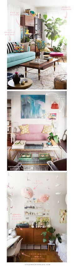 Your Decorating Guide to Bohemian Modern Interiors via StyleMachineBlog.com  #Decor #StyleGuide #Bohemian