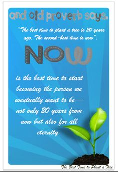 Didi @ Relief Society: January 2014 - First Presidency Message - The Best Time to Plant a Tree, handout