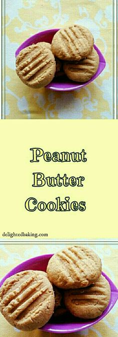 Peanut Butter Cookies : A simple cookies recipe. These cookies are made using peanut butter. If you like peanut butter, do try this recipe.