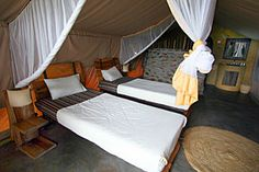 Robanda Tented Camp: Rooms with 1 king or 2 twin beds -- http://adventureswithinreach.com/tanzania/safari/lodging-details.php?name=Robanda%20Tented%20Camp