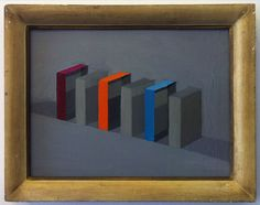 """Saatchi Online Artist: Stuart McHarrie; Oil, 2013, Painting """"three paintboxes separated study"""""""