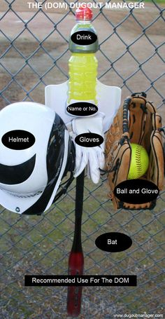 """THE DOM WILL BE ON SALE FOR 3 WEEKS ON EBAY"" SOFTBALL BASEBALL DUGOUT ORGANIZER BAT HELMET GLOVE HOLDER ""THE DOM"""