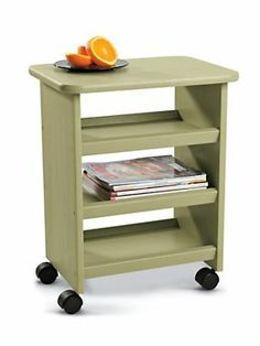 Multipurpose Cart - Wheeled Wood Cart - Rolling Cart - American made furniture   Solutions