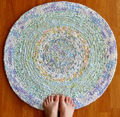 Pretty Pastels Crochet Rug by recyclingartistemily, via Flickr