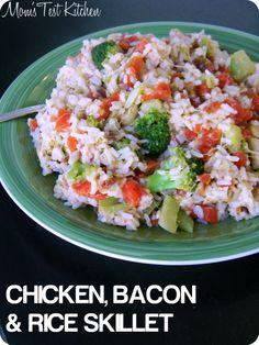 Mom's Test Kitchen: Chicken, Bacon & Rice Skillet  #LoveEveryMinute