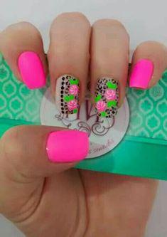 Uñas neon #uñasesculpidas
