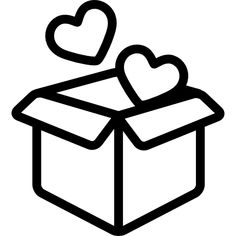 Open Box with Two Hearts free vector icons designed by Freepik Cute Little Drawings, Mini Drawings, Cute Easy Drawings, Art Drawings Sketches, Doodle Icon, Doodle Art, Box Icon, Simple Doodles, Instagram Highlight Icons