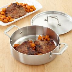 Pork Chops and Sweet Potatoes Recipe from our friends at American Kitchen.  Here's a great recipe for every night meals. Find it on the Recipes & Tips tab. #pork #recipes #sweetpotatoes