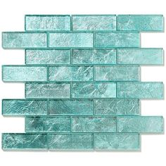Folia Juniper 12 in. x 12 in. x 6.35 mm Blue Glass Mesh-Mounted Mosaic... (1.292.930 CLP) ❤ liked on Polyvore featuring backgrounds, fillers, walls, art, effects, decoration, quotes, wallpaper, texture and detail