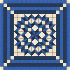 Sizes: 90 x 90, 100 x 100, 110 x 110  Blue and Beige and Harvest Time color combinations  The pattern is a combination of a PDF file and an Animated Tutorial on YouTube. The access to the video is activated within 24 hour after the payment arrives. This pattern makes it easy to create this beautiful quilt within a short period of time with the Half Square Triangle mass production method. The whole process is animated, very easy to understand and follow. You can watch while you are working…