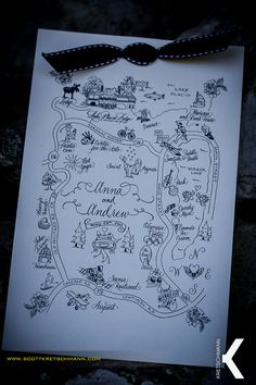 Directions and a map to the Lake Placid Lodge for a wedding.