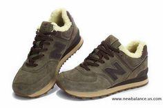 Pas cher New Balance Brown hiver Suede WL574TA Eskimo série laine Chaussures…
