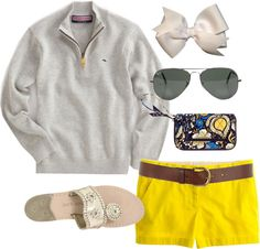 """""""OOTD"""" by classically-preppy on Polyvore...minus the bow (I passed elementary school too long ago)"""