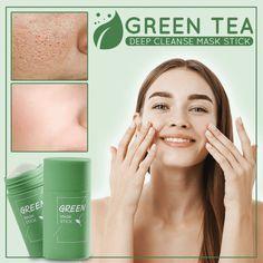 Letzte Chance für einen Rabatt: 1 + 1 Gratis nur heute entgiftet die Haut und macht sie makellos, porenfrei und extrem glatt Eine feuchtigkeitsspendende Gesichtsmaske, die perfekt für die Tiefenreinigung und die Aufrechterhaltung einer guten Lipidbalance geeignet ist. Die Maske enthält natürliche Inhaltsstoffe mit Grün Unclog Pores, Oily Face, Get Rid Of Blackheads, Anti Aging Treatments, Blackhead Remover, Acne Prone Skin, Facial Masks, Healthy Skin, Natural Remedies