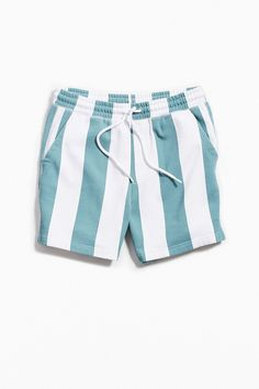 d749a178ec UO Lucien Awning Stripe Volley Short by Urban Outfitters. Striped  KnitStriped ShortsSwim ShortsElastic WaistJeans ...