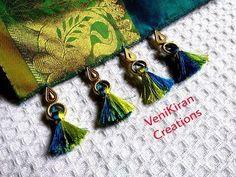 Saree Tassels I Saree Kuchu using Beads Short Design I Tutorials I DIY I Gonde Design - YouTube