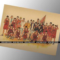 Your place to buy and sell all things handmade High School Basketball, Basketball Players, Slam Dunk Anime, Inoue Takehiko, Miyagi, Vintage Fashion, Vintage Style, Anime Manga, Vintage Posters