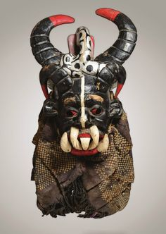 Africa | Chief hemet power mask from the Igbo people of Nigeria  | Wood, paint, textile || The Bedford Stuyvesant Museum of African Art ~ http://issuu.com/cmboler/docs/bedstuy_final_book3_nobleed