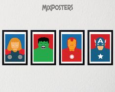 Hey, I found this really awesome Etsy listing at https://www.etsy.com/listing/221259772/limited-avengers-pack-wall-art-print
