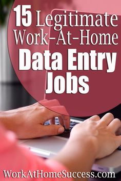 Apply now to these 15 companies with work-at-home data entry work.  http://www.workathomesuccess.com/15-legitimate-work-at-home-data-entry-jobs/?utm_campaign=coschedule&utm_source=pinterest&utm_medium=Leslie%20Truex&utm_content=15%20Legitimate%20Work-At-Home%20Data%20Entry%20Jobs