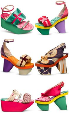 What I would wear if  my feet would let me, Love the colors!!  Kenzo Accessories for S/S 2011 -  Kenzo Défilé