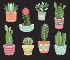 You will receive :You will receive 9 beautifully rendered separate PNG files (transparent background) which were created at Each clipart element is saved separately about Cactus Pot, Cactus Flower, Cactus Plants, Flower Pots, Cactus Terrarium, Indoor Cactus, Indoor Plants, Potted Plants, Indoor Herbs