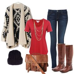 """""""casual fall wear"""" by tiffompink on Polyvore"""