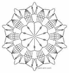 Watch The Video Splendid Crochet a Puff Flower Ideas. Phenomenal Crochet a Puff Flower Ideas. Crochet Snowflake Pattern, Crochet Motif Patterns, Crochet Snowflakes, Crochet Blocks, Crochet Diagram, Crochet Chart, Crochet Squares, Thread Crochet, Diy Crochet