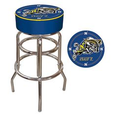 Trademark Global, Inc. United States Naval Academy Padded Bar Stool