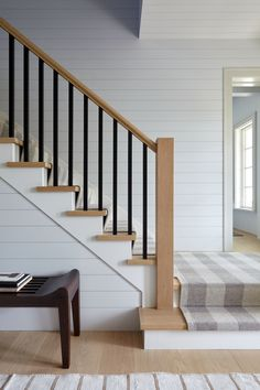 Bridgehampton Estate Staircase Contemporary Modern Eclectic by Frampton Co House Staircase, Entry Stairs, Staircase Railings, Entry Foyer, Stairways, Interior Stair Railing, Stair Railing Design, Railing Ideas, Staircase Contemporary