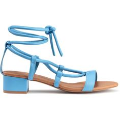 Sandals $34.99 ($35) ❤ liked on Polyvore featuring shoes, sandals, vegan shoes, blue shoes, laced sandals, lace up shoes and synthetic leather shoes