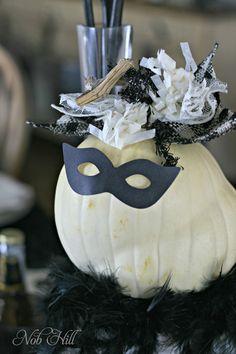 so easy--a mask on a pumpkin!
