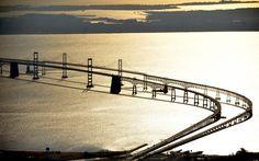 175 years of Sun photography: 2012 -- Chesapeake Bay Bridge