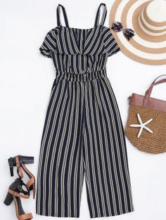 GET $50 NOW   Join Zaful: Get YOUR $50 NOW!http://m.zaful.com/cami-ruffles-striped-shirred-waist-jumpsuit-p_282690.html?seid=3430795zf282690