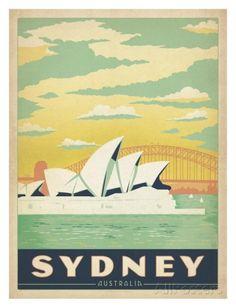 Sydney, Australie Reproduction d'art...reépinglé par Maurie Daboux ◡ً❤