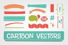 Cartoon Vectors by TOMODACHI on Creative Market