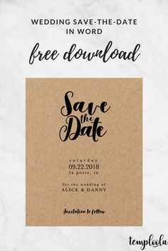 9 Wedding Save The Date Templates Ideas