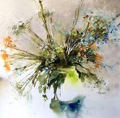 New Original WILDFLOWERS Watercolor Painting  by PamelaHarnoisArt
