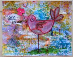 Neon Diary: Art journal with Recycled pages