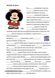 Fill in the gaps with the verbal form of the present indicative. Spanish Songs, Ap Spanish, Spanish Grammar, Spanish Language Learning, Spanish Teacher, Spanish Classroom Activities, Spanish Teaching Resources, Spanish Lessons For Kids, Spanish Lesson Plans