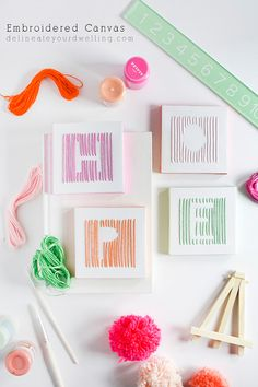 Fun to make craft! Embroidered DIY Canvas, Delineate Your Dwelling