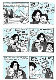 Star Wars Reylo Freeze Comic by Nekokoro-chan.deviantart.com on @DeviantArt
