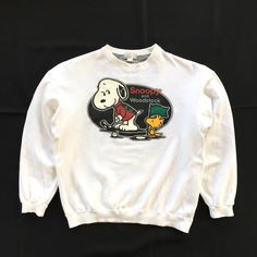 Excited to share this item from my shop: Vintage Comic Strip PEANUTS Characters Snoopy and Woodstock Sweatshirt By United Feature Syndicate Crop Top Sweatshirt Size S - M Crew Neck Sweatshirt, Graphic Sweatshirt, Pullover, Disney Sweatshirts, Comfy Hoodies, Snoopy And Woodstock, Vintage Comics, Green Jacket, Shirt Jacket