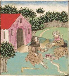 Antonius <von Pforr> Buch der Beispiele der alten Weisen — Oberschwaben, um 1475 Cod. Pal. germ. 466 Folio 239r