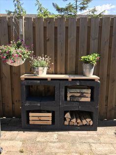 # outdoor kitchen # barbeque # multifunctional # concrete # you element - Balkon Ideen - Kitchen Barbacoa, Indoor Garden, Outdoor Gardens, Outdoor Projects, Diy Projects, Outdoor Kitchen Bars, Outdoor Bars, Concrete Kitchen, Concrete Patio