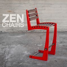 """Our Zen Chairs now come in sexy """"Ferrari"""" red. They can be used to add some pop to an existing space."""