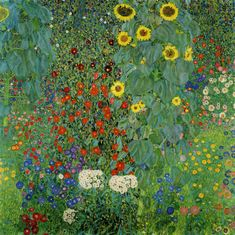 Gustav Klimt - Cottage Garden with Sunflowers, 1908