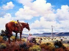 Artist Jack Sorenson Unframed Western Cowboy Print The Overseers | WildlifePrints.com