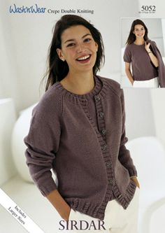 f8b63b570 Designs    Sirdar Designs Womens Cardigans 5052 Sweater Knitting Patterns